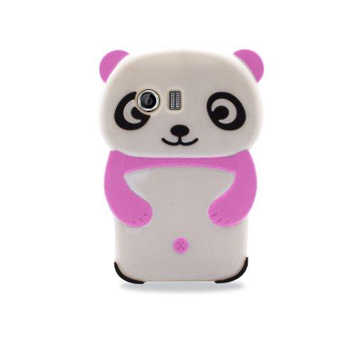 Phonix S9070PAP 3D Custodia Panda Rosa per Samsung Galaxy S Advance i9070, Multicolore