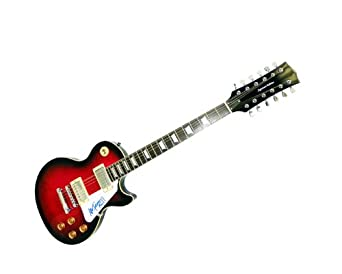Kiss Ace Frehley Autographed Signed 12string Les Paul Guitar PSA at