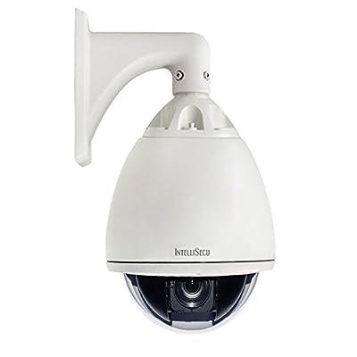 "IntelliSecu 7"" High Speed. OUTDOOR. Pan Tilt Zoom Security Dome Camera Surveillance PTZ CCTV. IP66 Weatherproof"