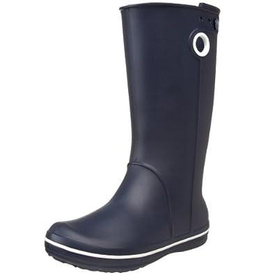 Crocs Women's Crocband Jaunt Rain Boot,Navy,4 W US