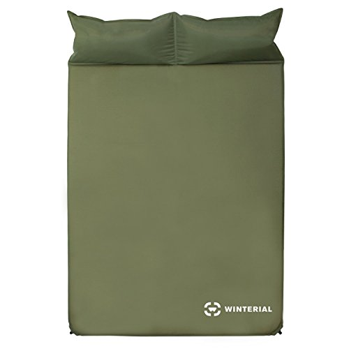 Winterial Double Self Inflating Sleeping Pad With Pillows / Camping