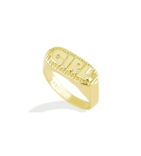 New 14k Yellow Gold Baby Girl Designer Child Kids Ring