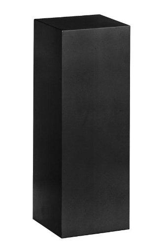 "Wood Square Pedestal, 42""H, BLACK"