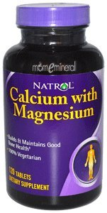 Calcium with Magnesium, 120 Tablets by Natrol