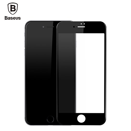 iPhone 7 Plus Screen Protector, Baseus 0.23mm PET Soft 3D Anti-blue Light Tempered Glass Screen Protector for iPhone 7 Plus (Black)