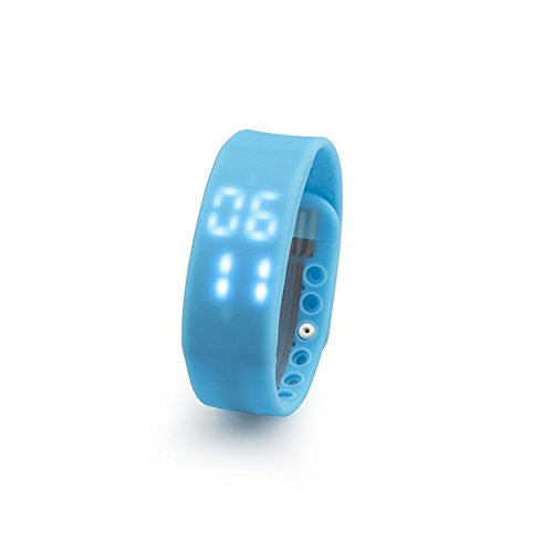 9LKEPG Slims Smart watch Pedometer Watch Sports Watch Wristband Bracelet Watch Sleep monitoring,Temperature monitoring,Time Display , Digital Time Display For Running/Waiking (Blue)