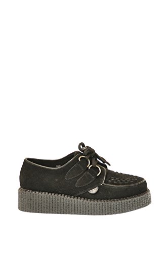 Underground Wulfrun Black Suede Mens Womens Unisex Creepers Shoes -6