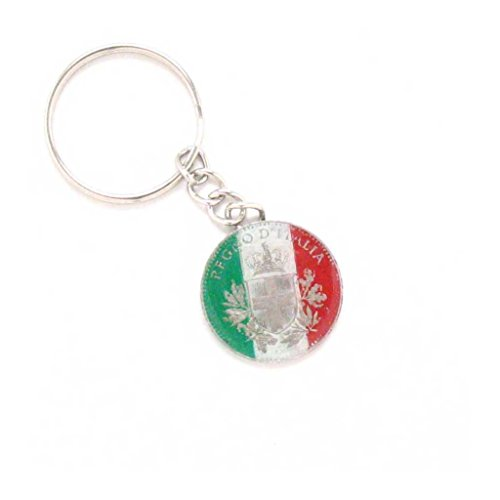 Italy Key Chain Car Coin Flag Italian Rome Souvenir Gift Business Venice Naples (Italian Flag Souvenir compare prices)