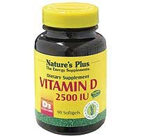 Natures Plus Vitamin D3 2500iu - 90 Softgels