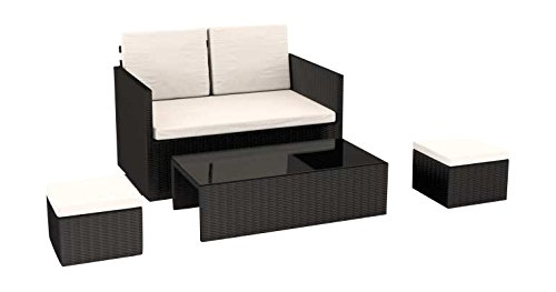 Artelia Lounge Set Danae, Schwarz