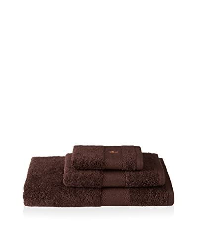 Tommy Bahama Pineapple Embroidery 3-Piece Bath Towel Set, Chocolate