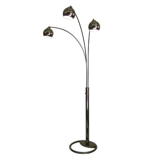 Cheap nova lighting 8051 triplet 3 light arc lamp black for Discount contemporary floor lamps