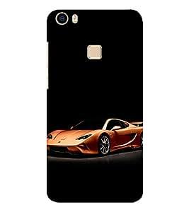 EPICCASE metallic ferrari Mobile Back Case Cover For Vivo V3 Max (Designer Case)