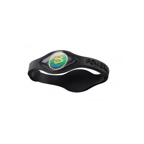 Power Balance Silicone Wristband: Black with Black Writing Medium