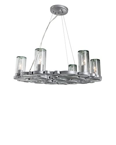 Varaluz Fascination 6-Light Chandelier, Nevada/Silver/Clear