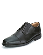Airflex™ Leather Lace Up Toe Cap Shoes