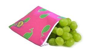 Itzy Ritzy Snack Happened - Bolsa para almuerzo con cremallera, diseño de ballenas, color rosa por Itzy Ritzy