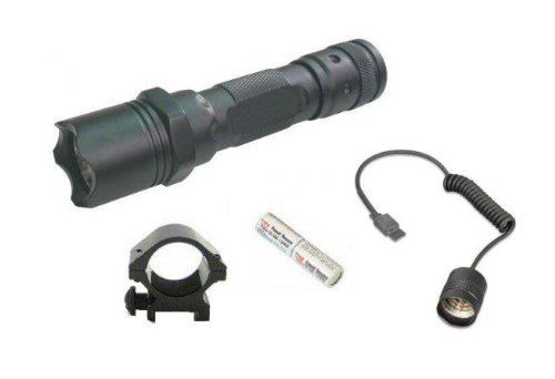 "Ultimate Arms Gear Tactical 130+ Lumens L.E.D Military Flashlight Led Tac - Light Kit For Ruger 1022,10/22.10-22, Mini 14, Mini-14,Sr556,Sr-556,Sr22,Sr-22 Rifle-12/20 Gauge Shotgun With A 7/8"" Weaver-Picatinny Rail Includes: Weaver-Picatinny Ring Mount, R"