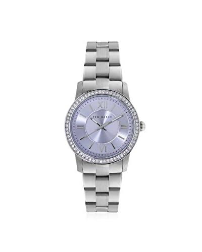 Ted Baker Women's TE4098 Silver/Purple Light Stainless Steel Watch