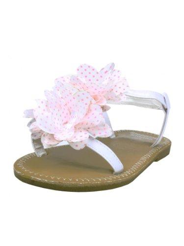 Toddler Girl White Sandals front-1056705