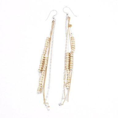 Mixed Metal Drop Earrings by Alice Menter||RF10F