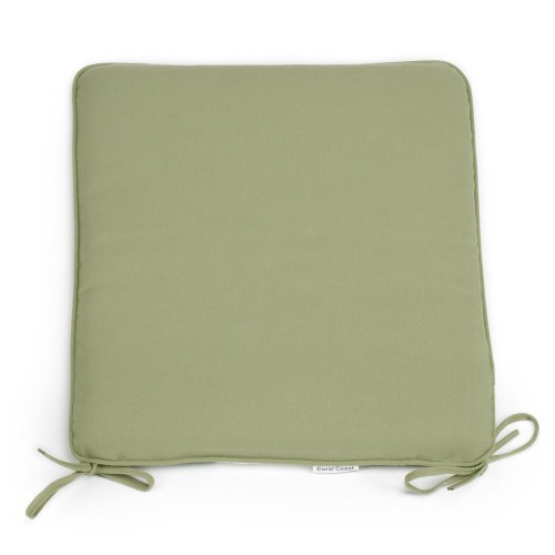 Coral Coast Coral Coast Classic 19 X 18 In. Rocking Chair Seat Pad, Sage Green, Polyester front-43222