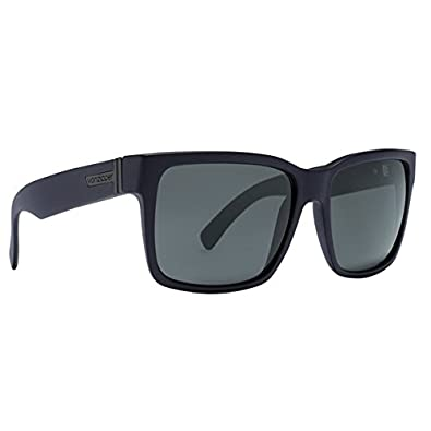 VonZipper Elmore Shift Into Neutral Men's Casual Sunglasses/Eyewear - Color: Black Satin/Grey, Size: One Size Fits All