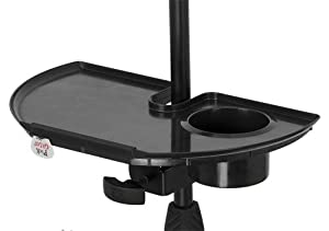 Gator Cases GFW-MIC-ACCTRAY Microphone Stand Accessory Tray with Drink Holder