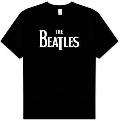 Beatles Logo Black T Shirt Rockwares Usa Tees Shirts