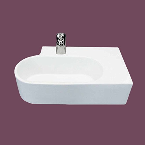 Lowest Price! Edwin White Bathroom Corner Wall Or Counter Mount Sink | Renovator's Supply