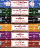 Incense Gift Set ~  Nag Champa, Sunrise, Sandalwood, Midnight, Patchouli, Celestial 15 grams