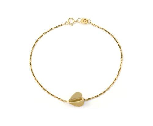 Oak My Heart Spins 18ct Gold Vermeil Bracelet of 18cm