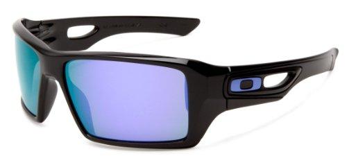 66ccb0e91fc1 Oakley Men's Eyepatch Square Sunglasses,Polished Black Frame/Violet Iridium  Lens,One Size