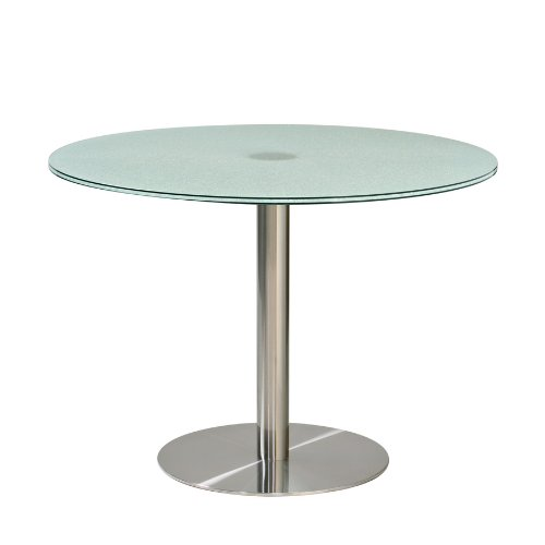 Cheap Diamond Sofa 42 Inch Round Dining Table w/ Crackled Glass Top (TB15)