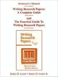 writing research papers a complete guide 13th edition