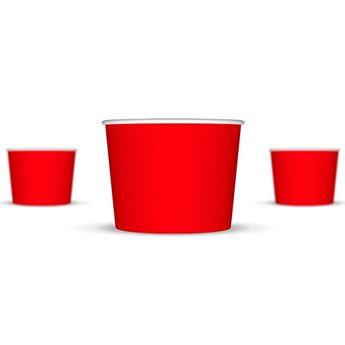 12 oz Ice Cream Cups, Red Paper Cups, Birthday Party Cups-These Disposable Containers Are What You Need For Your Party, These Frozen Dessert Cups Are Great For Ice Cream, Or Other Sweet Treats! (Party Ice Cream Cups compare prices)
