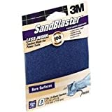 3m 100 Grit SandBlaster Palm Sander Sandpaper 9666 - Pack of 5