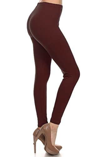 leggings-depot-basic-solid-plain-full-leggings-stretch-128-brown