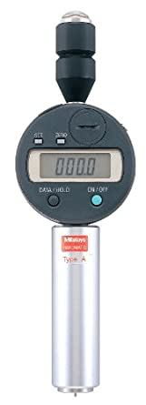 """Mitutoyo 811-334 Digital Durometer Tester For Shore D Scale, 0.7"""" Diameter Pressure Foot, Sharp Point Tip, SPC Output"""