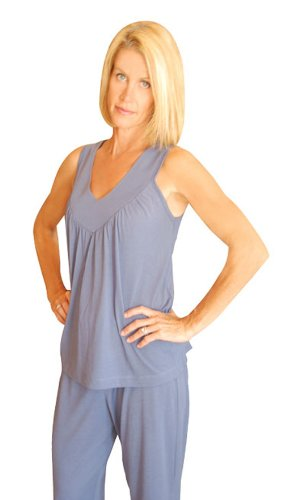 MIX AND MATCH WICKING COOL-JAMS GATHERED TANK(S-XL)