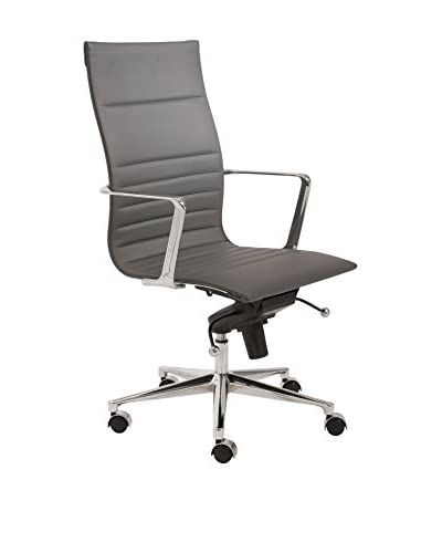 Euro Style Kyler High Back Office Chair, Grey