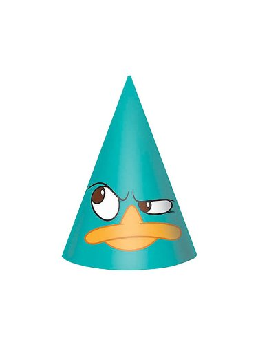 Disney's Phineas and Ferb Party Cone Hats 8 Pack