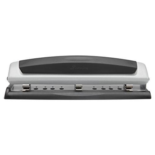 Swingline Precision Pro - Perforador de papel (Negro, Plata)