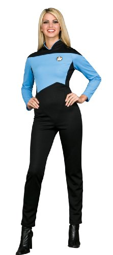 Secret Wishes Star Trek the Next Generation Woman's Deluxe Blue Jumpsuit
