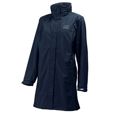 Helly Hansen Women's Long Aden Waterproof Jacket - Navy, X-Small