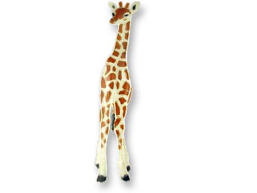 Giraffe Sterling Silver & Enamel Pin
