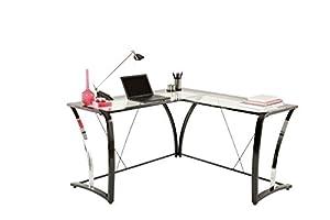 Brenton Studio Evanti Glass L- Desk