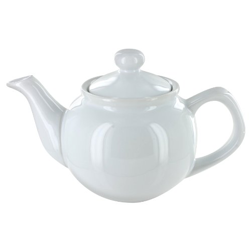 EnglishTeaStore Brand 2 Cup Teapot - Gloss Finish (White) (Cup Teapot compare prices)