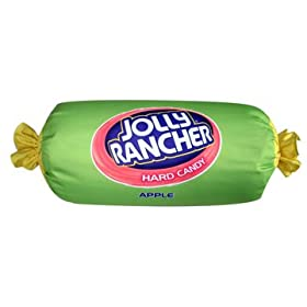 Apple Jolly Rancher - Microbead 12 inch Pillow