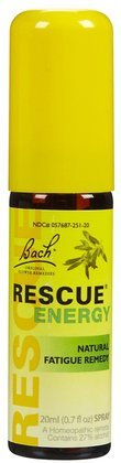 Bach Rescue Energy Natural Fatigue Remedy, 20 ml (Pack of 2)